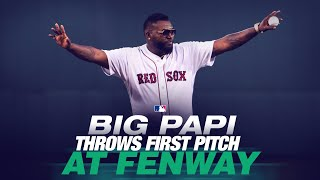 Big Papi David Ortiz throws out first pitch at Fenway Park