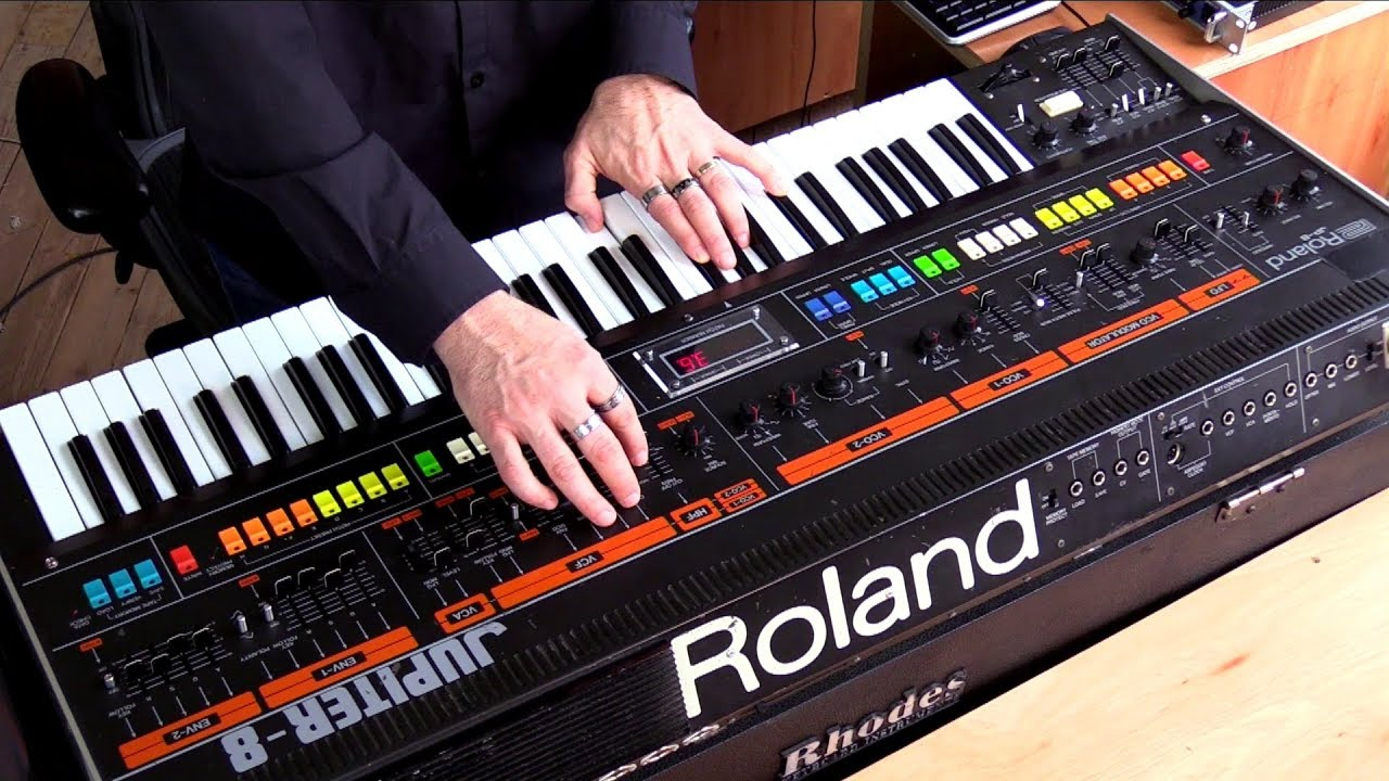 the roland jupiter 8 in action youtube