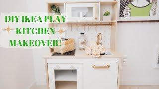 DIY IKEA PLAY KITCHEN MAKEOVER! | DUKTIG PLAY KITCHEN MAKEOVER!