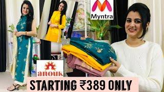 Best Myntra Kurta Haul Starting Rs 389 Only Myntra Designer Kurti Haul Beginners Creativity