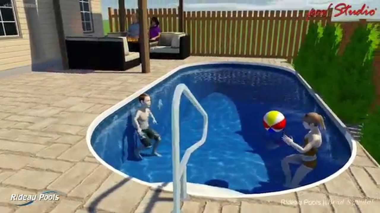 10 X 22 Semi Inground Pool By Rideau Pools Ottawa Youtube