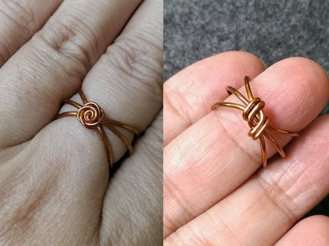rose ring from copper wire - handmade jewelry idea 154