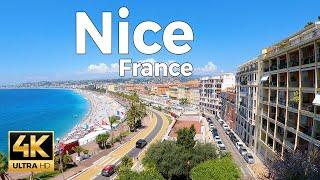 Nice, France Walking Tour (4k Ultra HD 60fps)