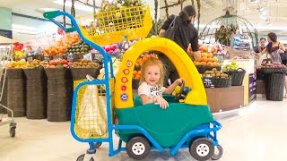 Шоппинг: экзотические фрукты, необычные напитки и еда в Тайланде / Влог для детей
