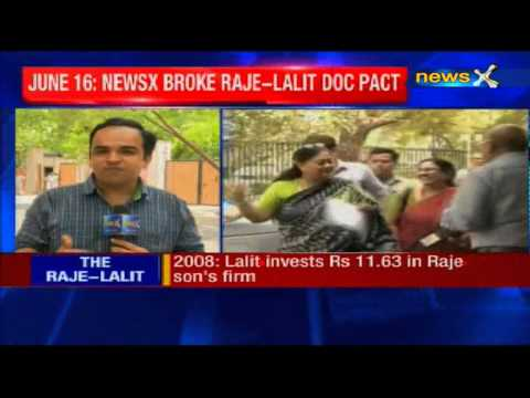 Vasundhara Raje signed MoU with hospital which treated Lalit Modi's wife