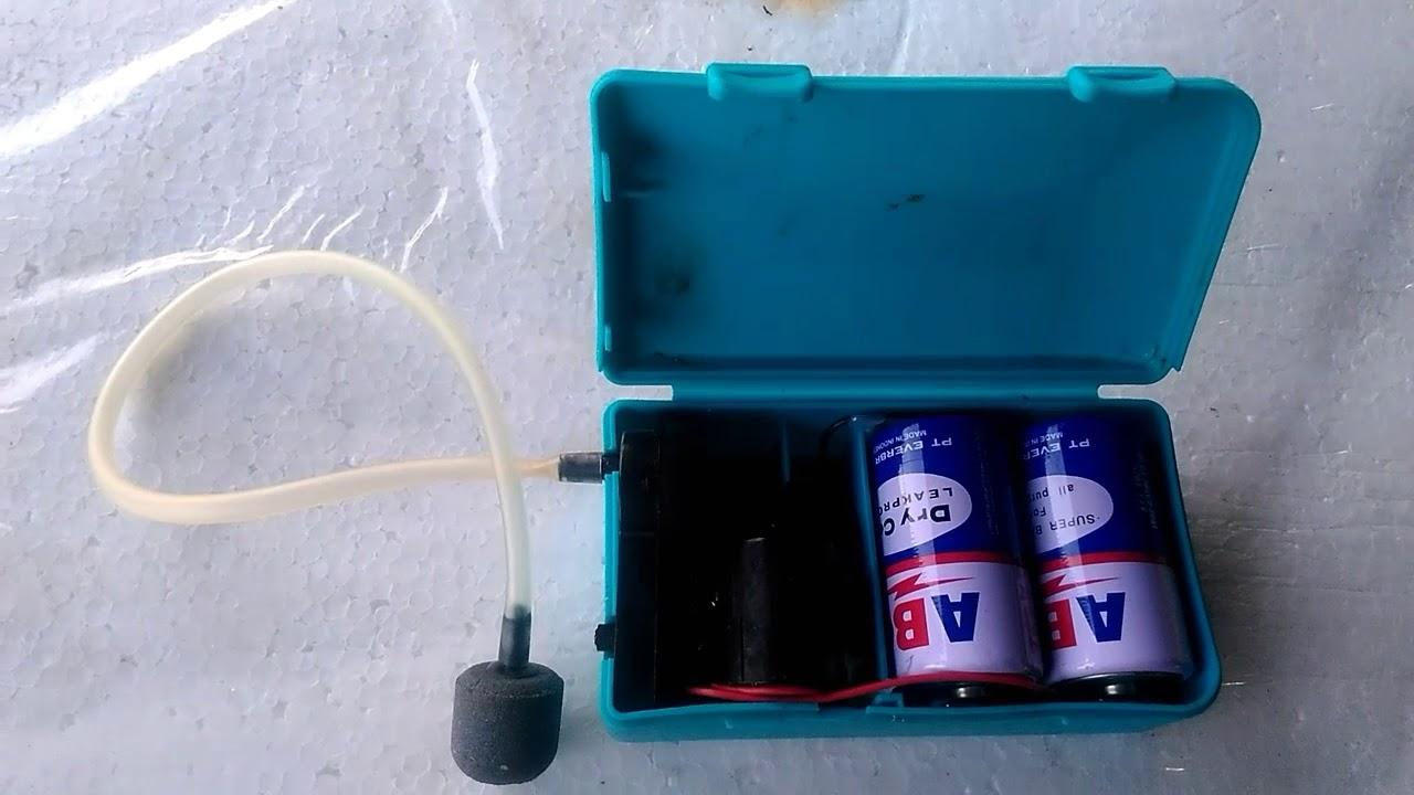 Portable Battery Air Pump Aerator Praktis Bisa Dibawa Kemana2 Youtube Tutup Pipa Filtrasi Aquarium Dan Aquascape