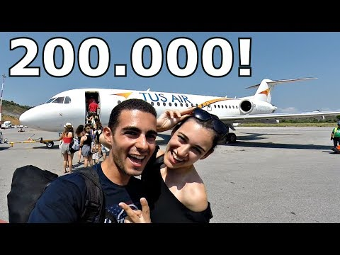 200.000 SUBSCRIBERS | A Thank You from Skiathos Airport | SPECIAL Plane Spotting Vlog!