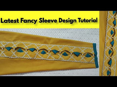 Latest Fancy Sleeve Design Tutorial with zigzag Dori || Step By Step || YOUR FASHION EXPERT thumbnail