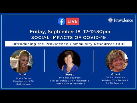 Social Impacts of COVID-19 and the Providence Community Resource HUB