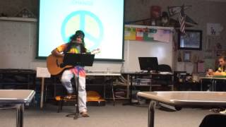 Hippie Teacher Smokes Weed in Class!!!