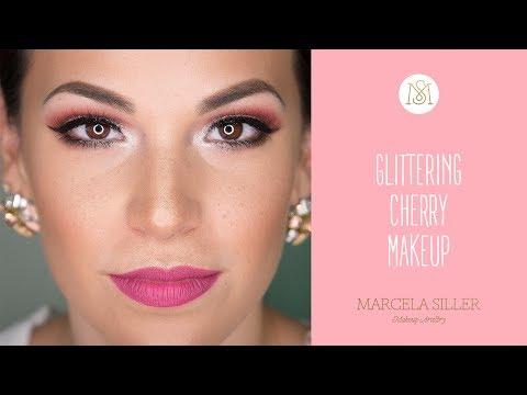 GLITTERING CHERRY MAKEUP   Marcela Siller