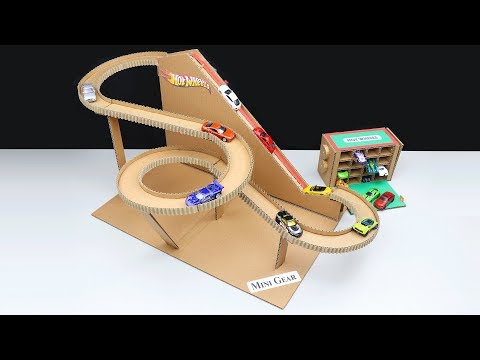 Hot Wheels Ultimate Garage DIY from Cardboard