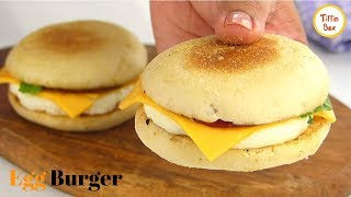Homemade Mcdonalds Egg Burger Recipe By Tiffin Box How To Make Egg Mcmuffin English Muffin Youtube