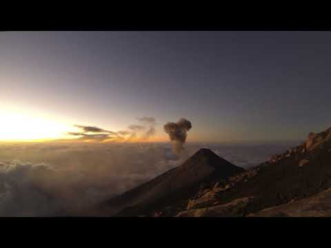 Phonography : Eruption of the Fuego volcano, Guatemala (14.499556, -90.875489)