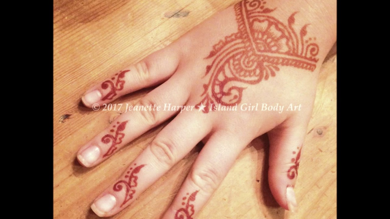 Five Minute Henna Design In Real Time By Island Girl Body Art Youtube