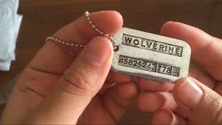 Армейские жетоны Росомахи(Купил dog tags росомахи из людей икс. Это армейские жетоны носят на войне, чтобы когда носящий умирает и его..., 2016-07-29T18:42:00.000Z)