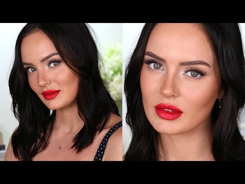Simple Holiday Makeup with Cranberry Lips!
