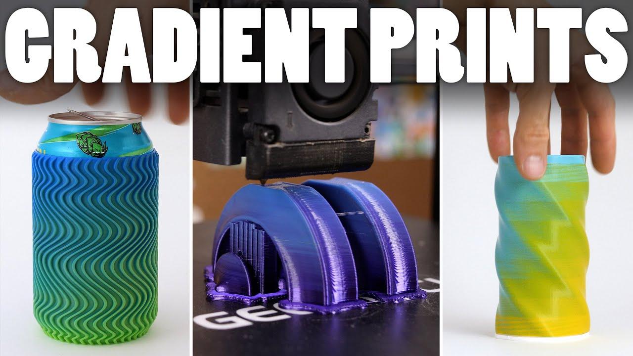 Color Shifting 3D Printed Gradients #Shorts