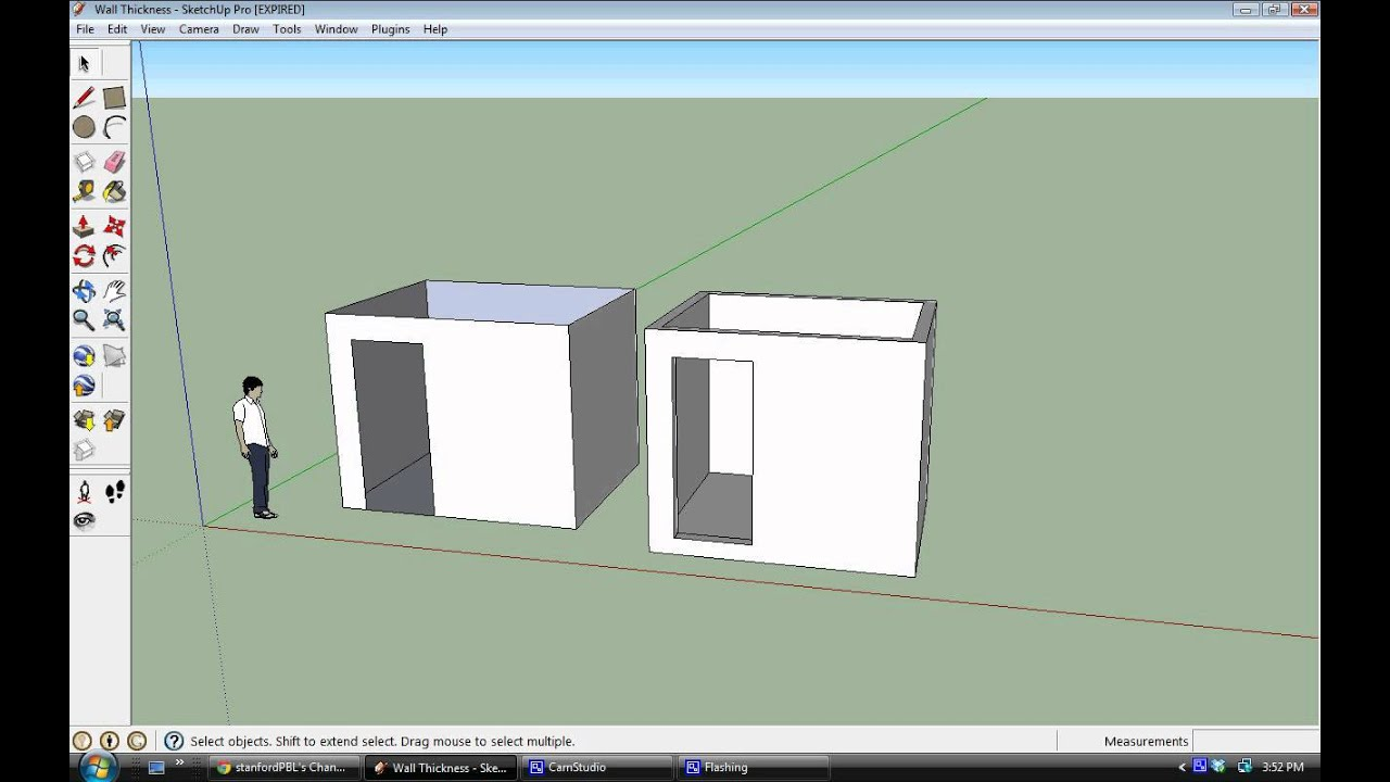 Wall Thickness House : Sketchup creating wall thickness youtube