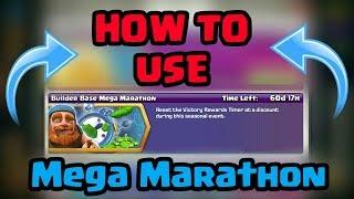 How to use MEGA MARATHON in clash of clans| Builder hall Mega Marathon event
