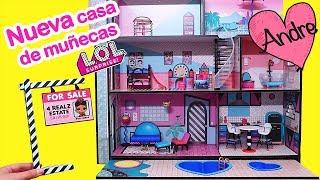 Nueva casita de muñecas LOL Surprise con piscina | Muñecas y juguetes con Andre para niñas y niños