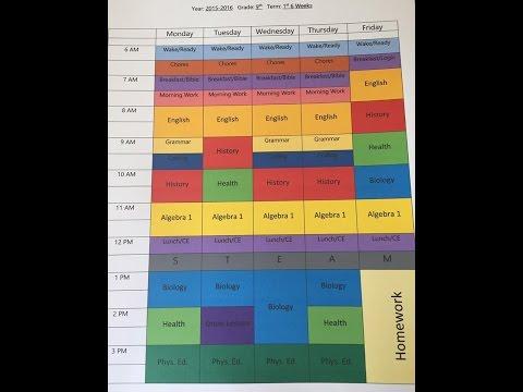 Homeschooling High School Daily Schedule