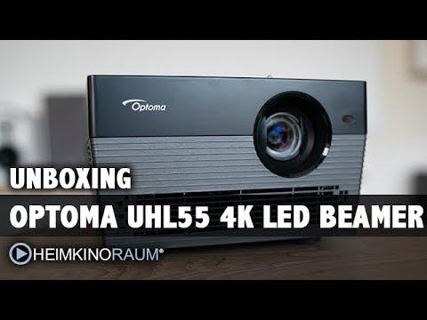 Optoma UHL55 4K 3D LED Beamer Unboxing und Test