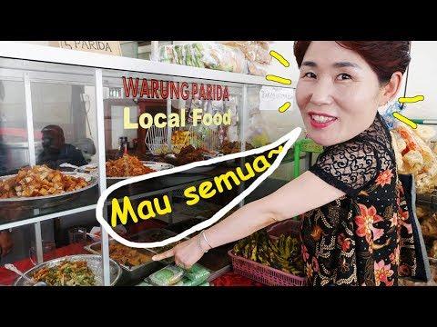 Mama Dari Korea Pertamakali Ke WARTEG Indonesia!