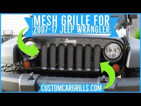 Jeep Wrangler 2007-2017 JK Mesh Grill Installation How-To by