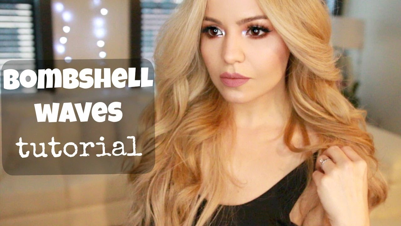 How To Big Waves Hair Tutorial Lange Curling Wand