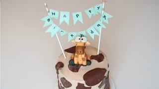 How To Make A Giraffe Cake | Birthday Cake Decorating Tutorial | Creativity with Sugar