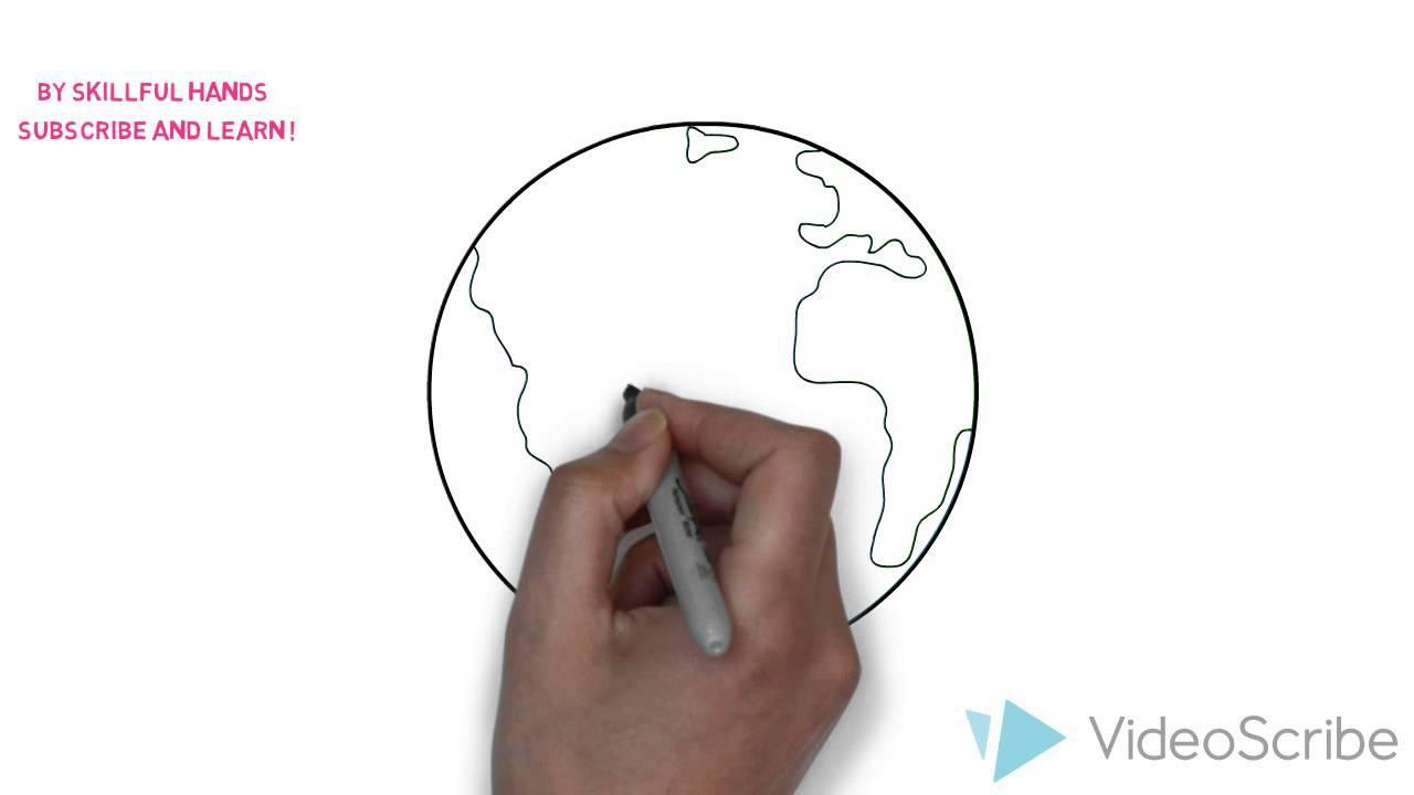 How to Draw a Planet Earth / Как нарисовать планету Земля