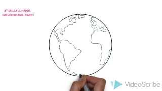 How to Draw a Planet Earth / Как нарисовать планету Земля(Drawing Channel - https://www.youtube.com/channel/UCaZm6IvtL9zNeDwQi571asA/videos Канал для рисования ..., 2015-04-10T16:36:17.000Z)