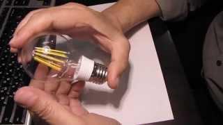 Светодиодная лампа FILAMENT 8W обзор 1я часть(Покупал тут: http://ali.pub/udo54 Распаковка: https://www.youtube.com/watch?v=dX_z80OxqwE Продавец принял мой спор и вернул US $ 3.50 Лампа..., 2015-06-10T09:05:41.000Z)