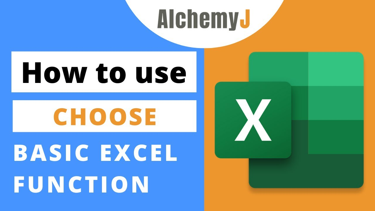Basic Excel Function - How to use CHOOSE Function in Excel