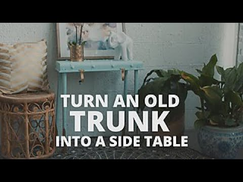 Turn An Old Trunk Into a Side Table - DIY Network