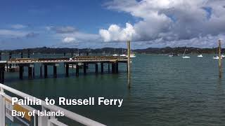 Paihia to Russell Ferry Bay of Islands New Zealand 2019