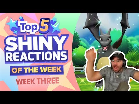 TOP 5 SHINY REACTIONS OF THE WEEK! Pokemon Let's GO Pikachu and Eevee Shiny Montage! Week 3