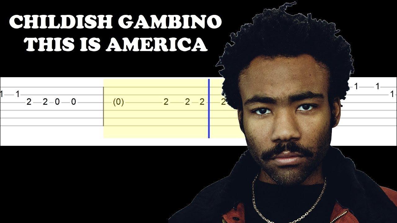 Childish Gambino - This Is America (Easy Guitar Tabs ...