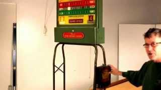 The Rockola Shuffleboard Table: Antique Score Unit