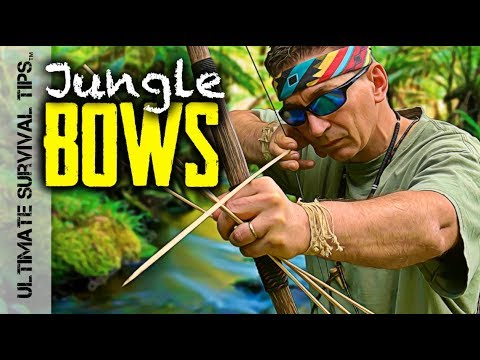 E6: Jungle Bushcraft Adventure - Primitive Bows - Crazy Monkeys, Monster Fishing & SEARCHED
