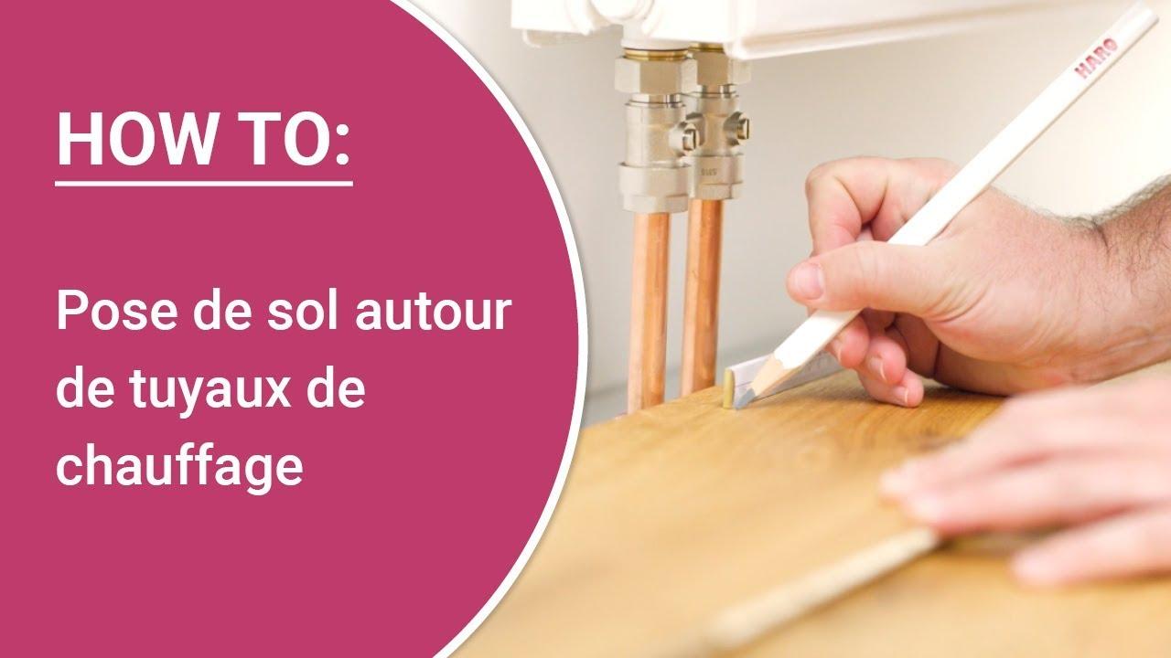 Comment Cacher Des Tuyau De Chauffage instructions : pose de sol autour de tuyaux de chauffage