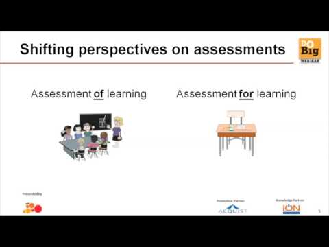 A Do Big Webinar on Outcome Based Learning - Role of Assessments and Analytics.