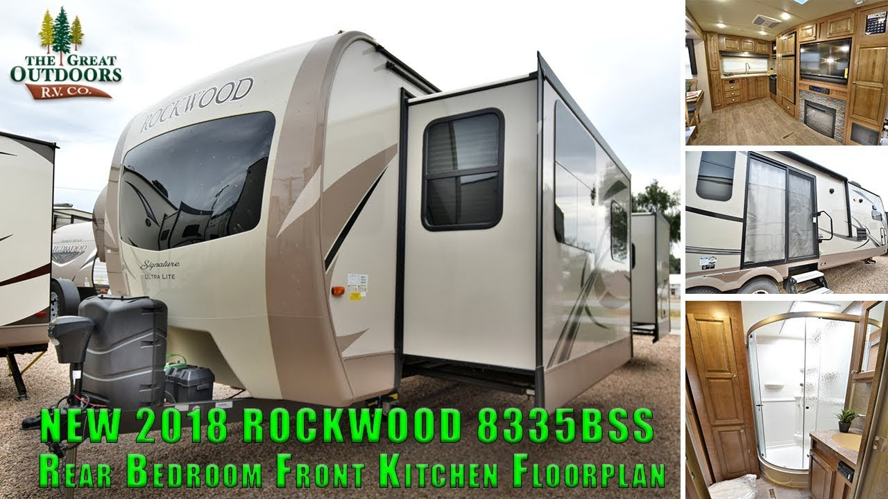 front kitchen travel trailer island with sink for sale new updated interior 2018 rockwood 8335bss rv camper colorado dealer