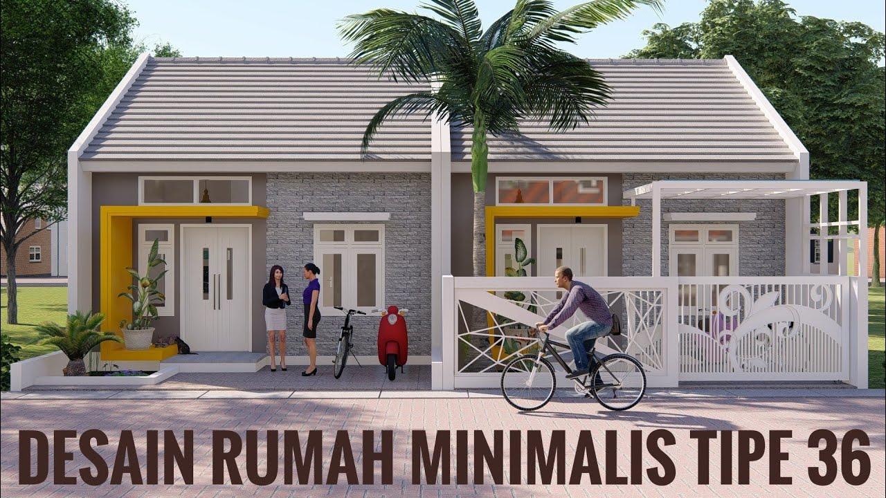 Desain Rumah Minimalis Terbaru Type 36 Youtube