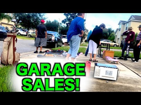 There Was So Much Stuff At These Garage Sales!