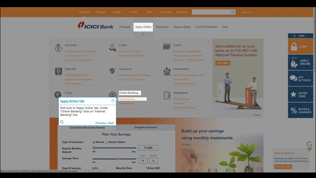 How to Get New User ID to Login Into ICICI bank Internet Banking