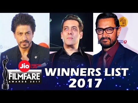 Jio Filmfare Awards 2017 - FULL WINNERS LIST - Best Actor, Best Actress...