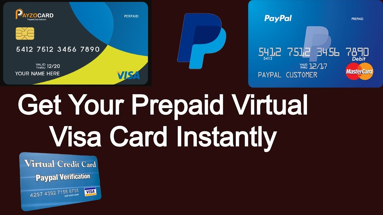 Instant Virtual Credit Card Paypal Youtube