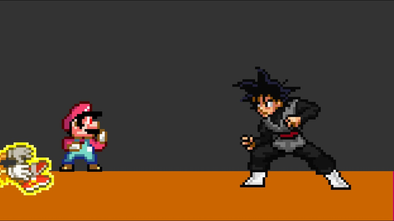 Devil Mario Vs Black Goku Flash Animation Coming Soon Youtube